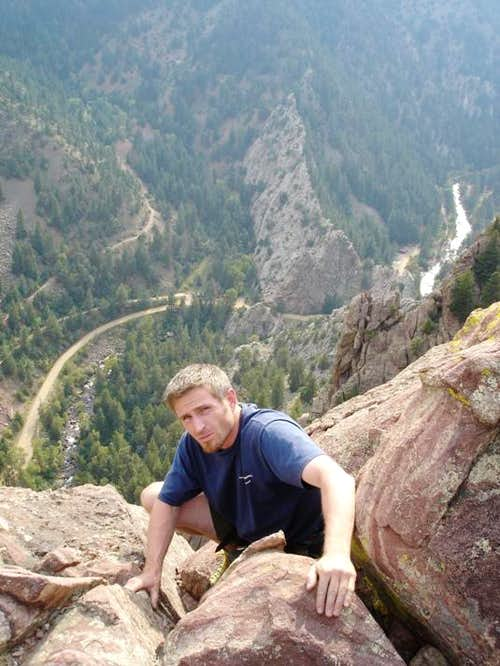 Topping out at Eldorado Canyon\'s Tower 2