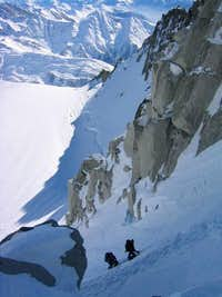 Climbers on a March ascent of...