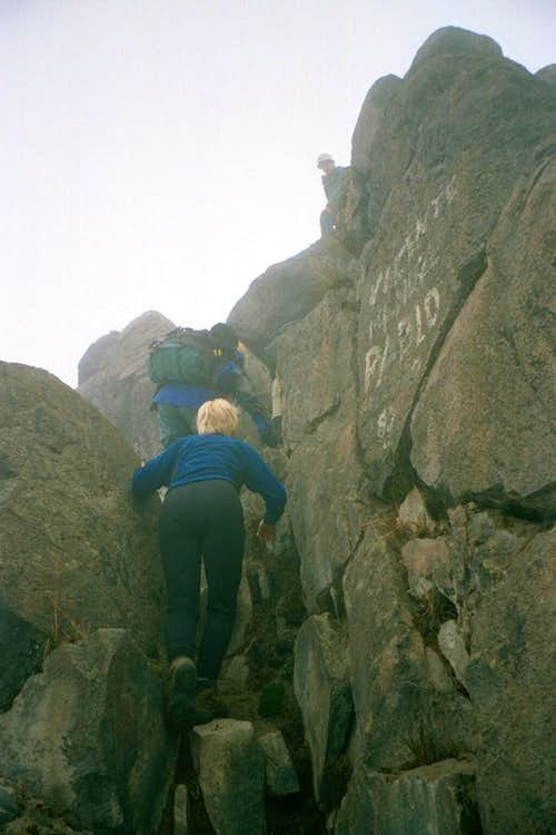 Summit Scramble on Guagua P