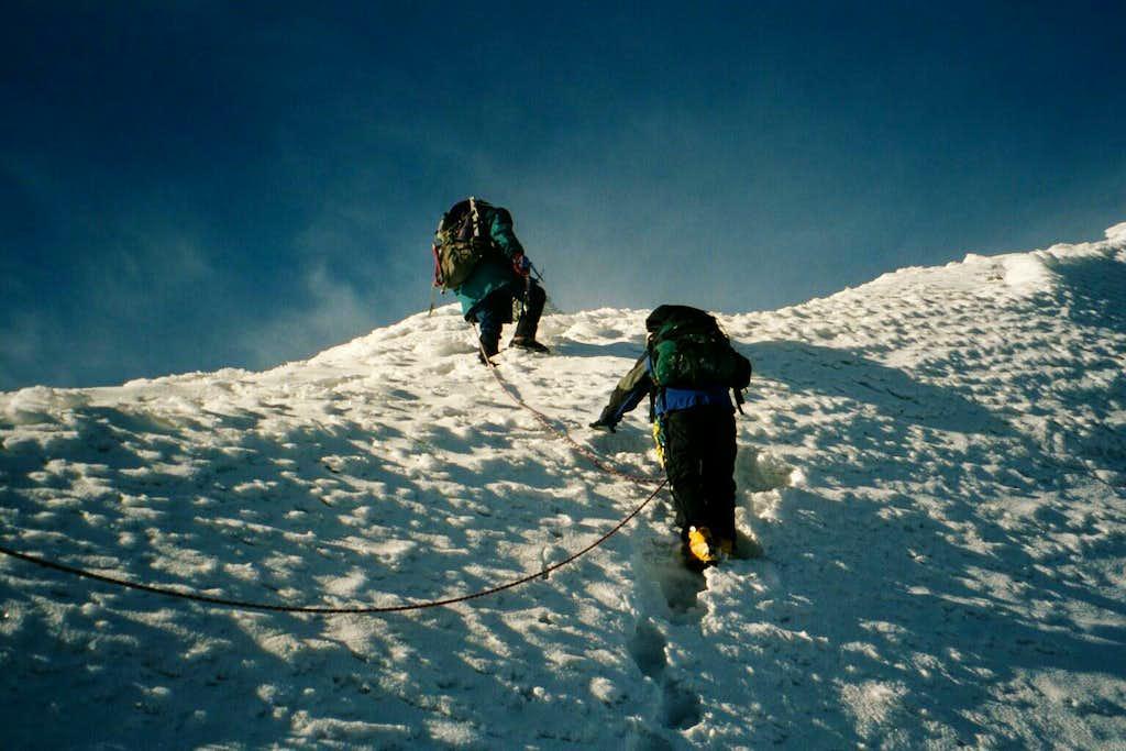 Near summit of Iliniza Sur