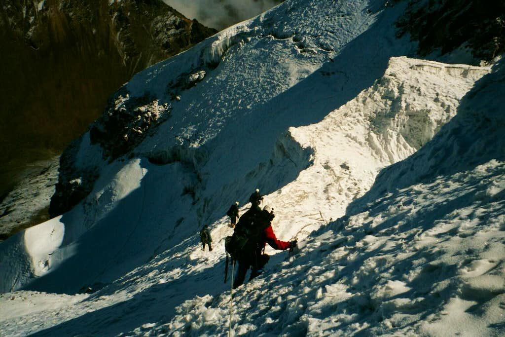 Descending from Iliniza Sur