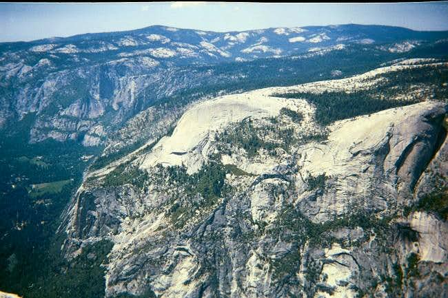 North Dome from Half Dome.