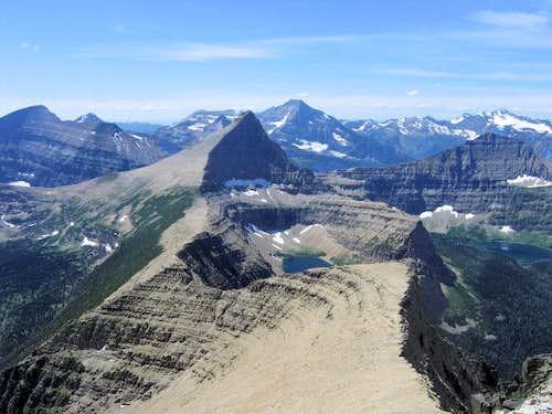 Flinsch Peak embedded in a landscape...