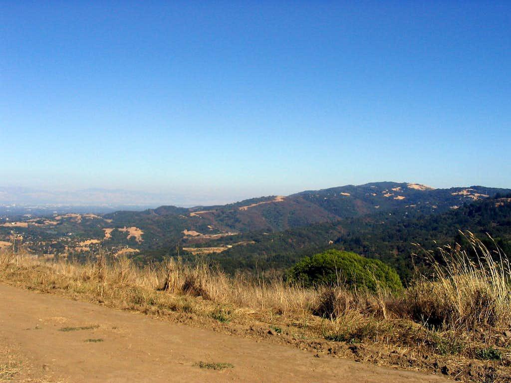 Eastern Santa Cruz Mountains from Spring Ridge Trail
