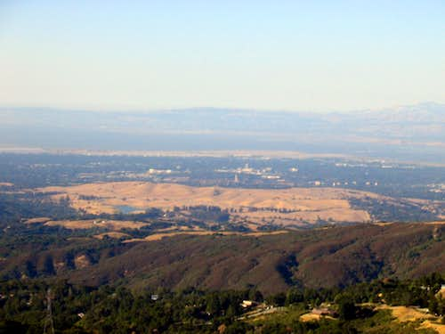 Stanford and Bay from Borel Hill