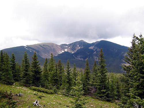 Penitente Peak (left) and...