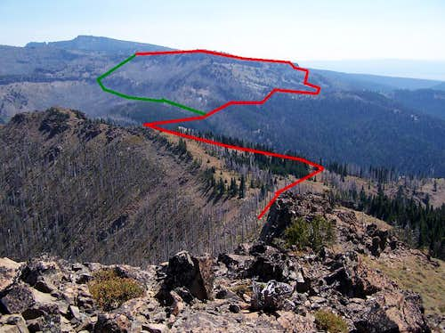 Route as seen from Summit of ICB