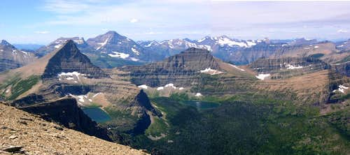 Glacier National Park Rising Wolf Panorama