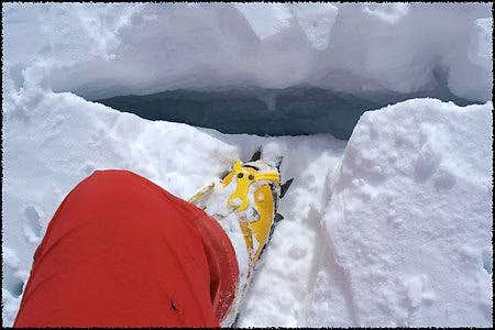 The first crevasse I found