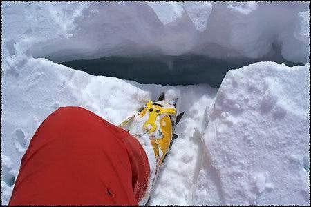 The first crevasse I found
