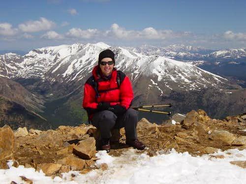 On the top of Mount Elbert....