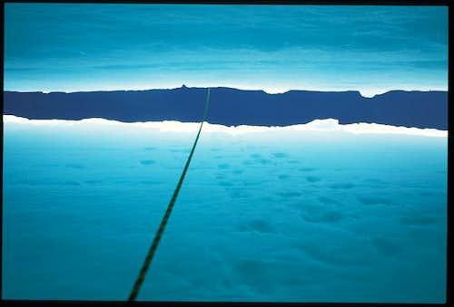 beautiful blue ice inside a...