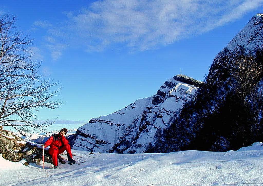 Hiking on Monte Generoso. The...