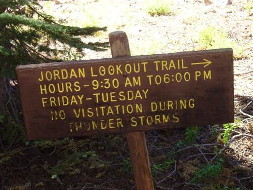 Jordan Lookout Sign