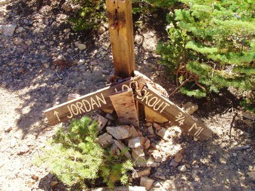 Jordan Peak Lookout Trailhead Sign