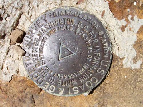 USGS Marker on Jordan Peak
