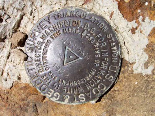 USGS Marker on Jordan Peak