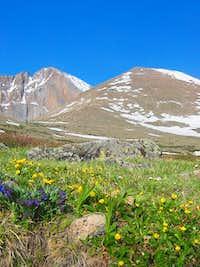Longs Peak is on the left,...