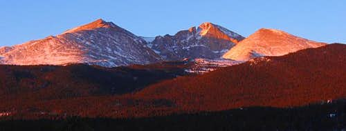 left to right  Mt Meeker...