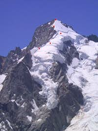 East ridge of Mont Dolent,...