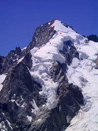 East ridge of Mont Dolent,...