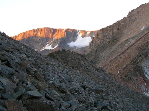Dawn on the traverse