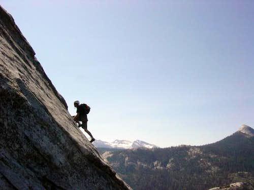 Ryan climbing the second...