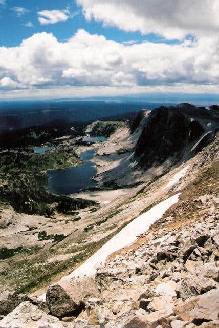 The lakes below Medicine Bow Peak