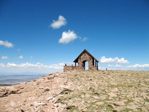 The top of Brianhead Peak