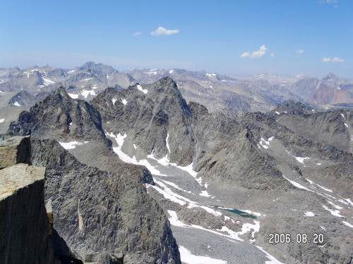 View to the west from the summit of Mt Sill