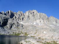 Upper Barrett Lake and North Palisade