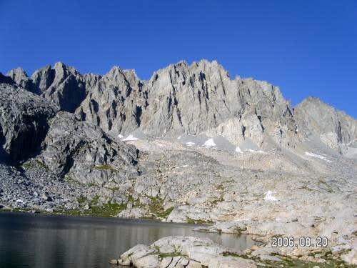 Upper Barrett Lake and North Palisade