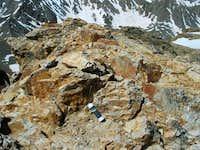 Mt. Belford's summit register.