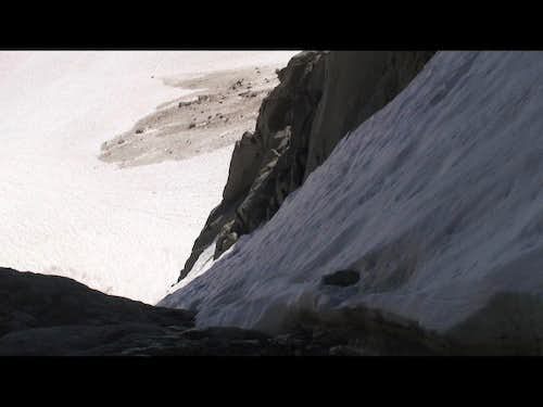 Looking Down the Clyde Couloir