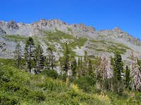 Mt Tallac ridgeline from Cathedral Lake trail