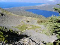 View of trail above Cathedral Lake