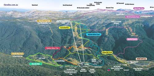 The various walking trails...
