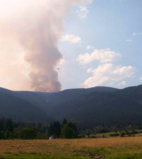 Official Picture of Gash Creek Fire