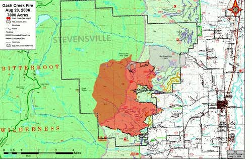 Gash Creek Fire Map