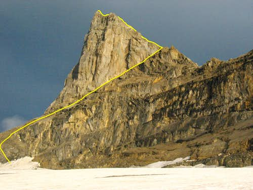 standard route up la dent jaune