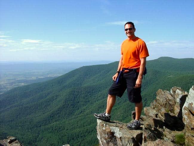 TJ Burr near summit of...