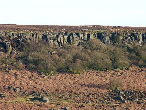Burbage Edge in winter