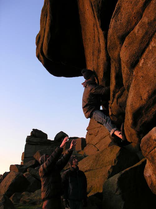 Bouldering at Stanage