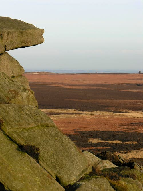 Dark peak moorland