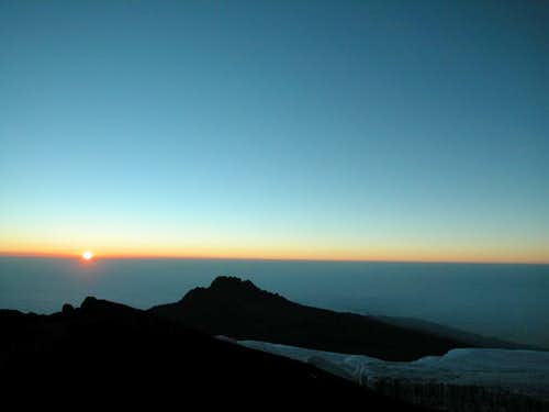 Kilimanjaro - sunrise on Mawenzi