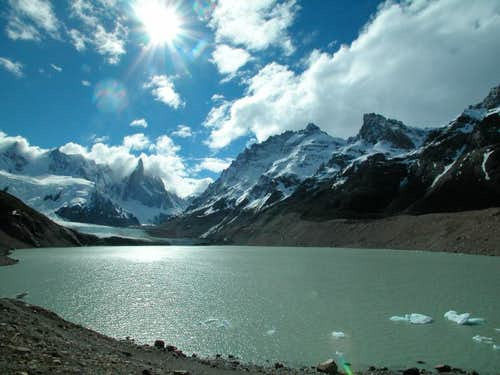 Laguna Torre in front of the magnificent Cerro Torre