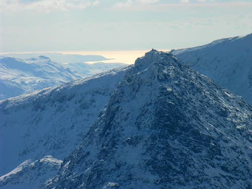 Tryfan and Cardigan bay in March 2006