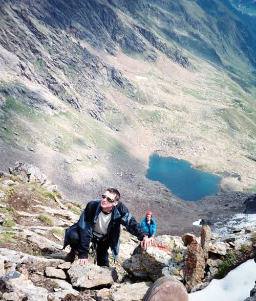 During the climb