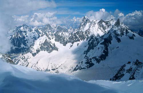 Glacier du Géant, Grandes Jorasses
