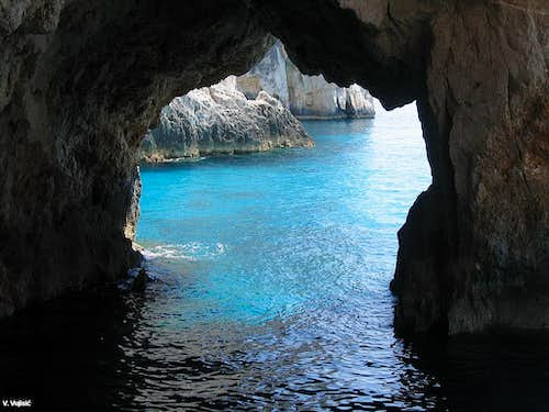 Inside of Blue Caves